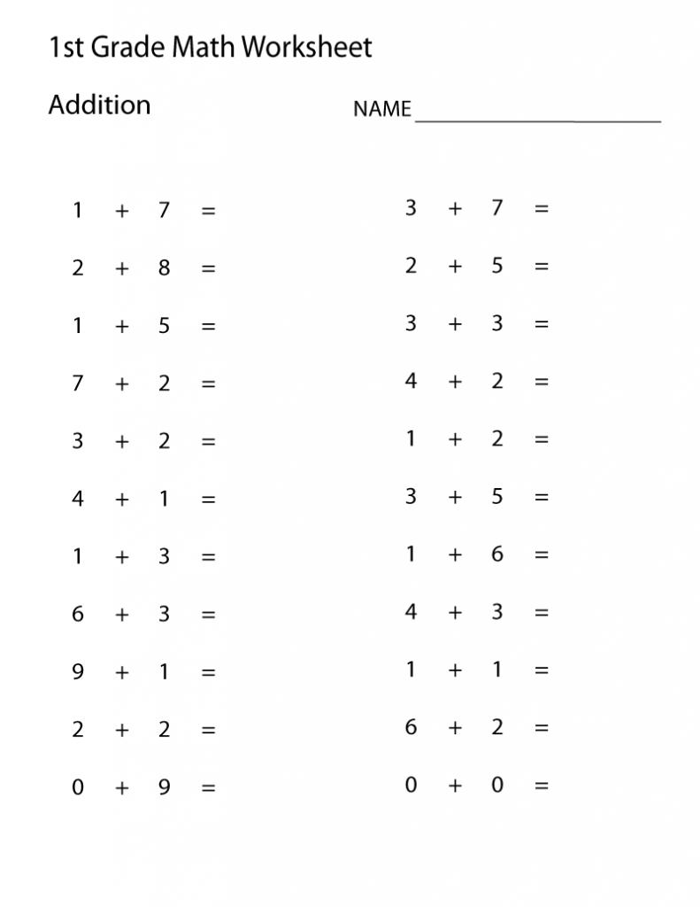 - 1st Grade Worksheets Courage 1st Grade Math Worksheets, First