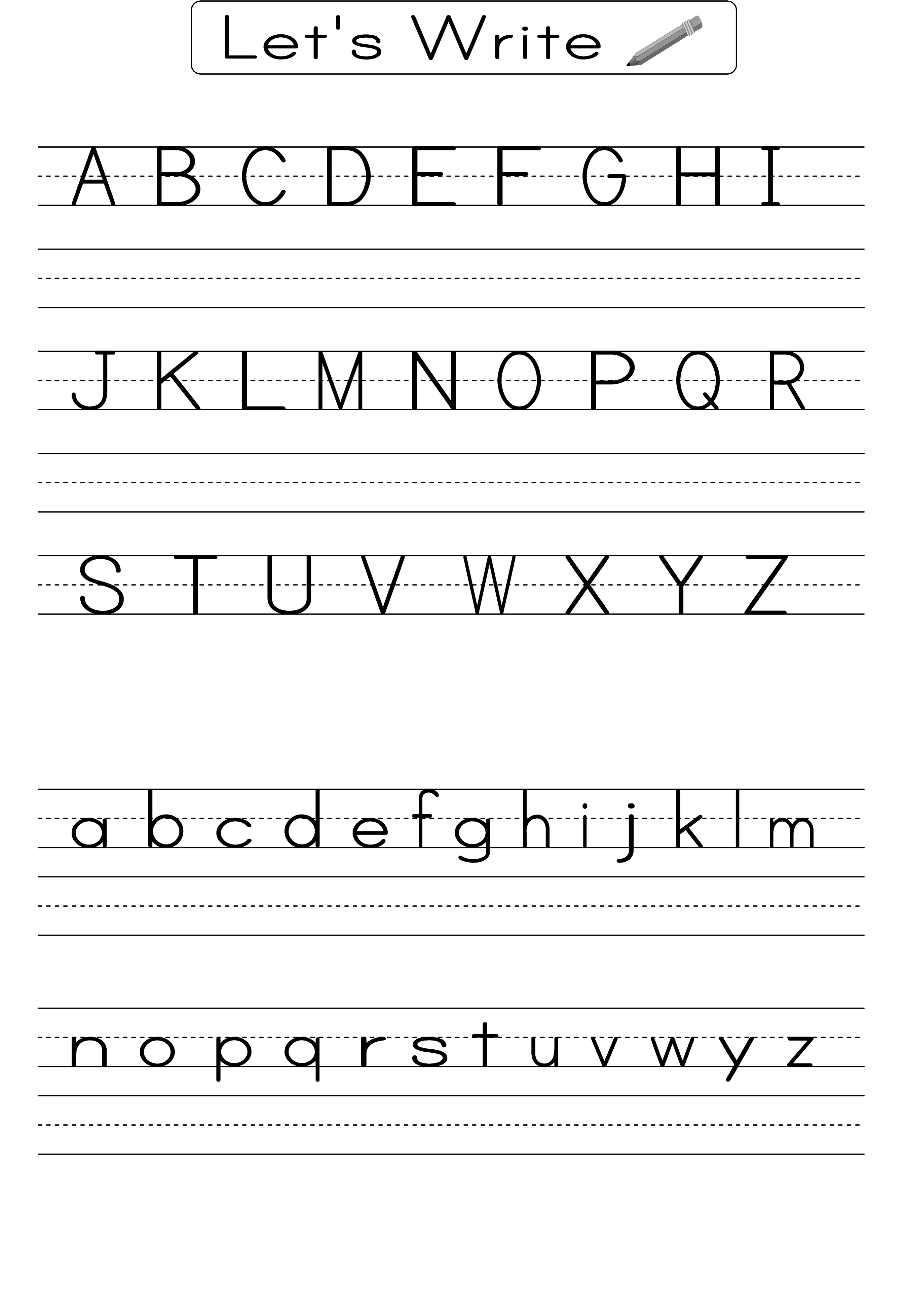 Writing Alphabet Worksheets For Students 2019   Educative Printable