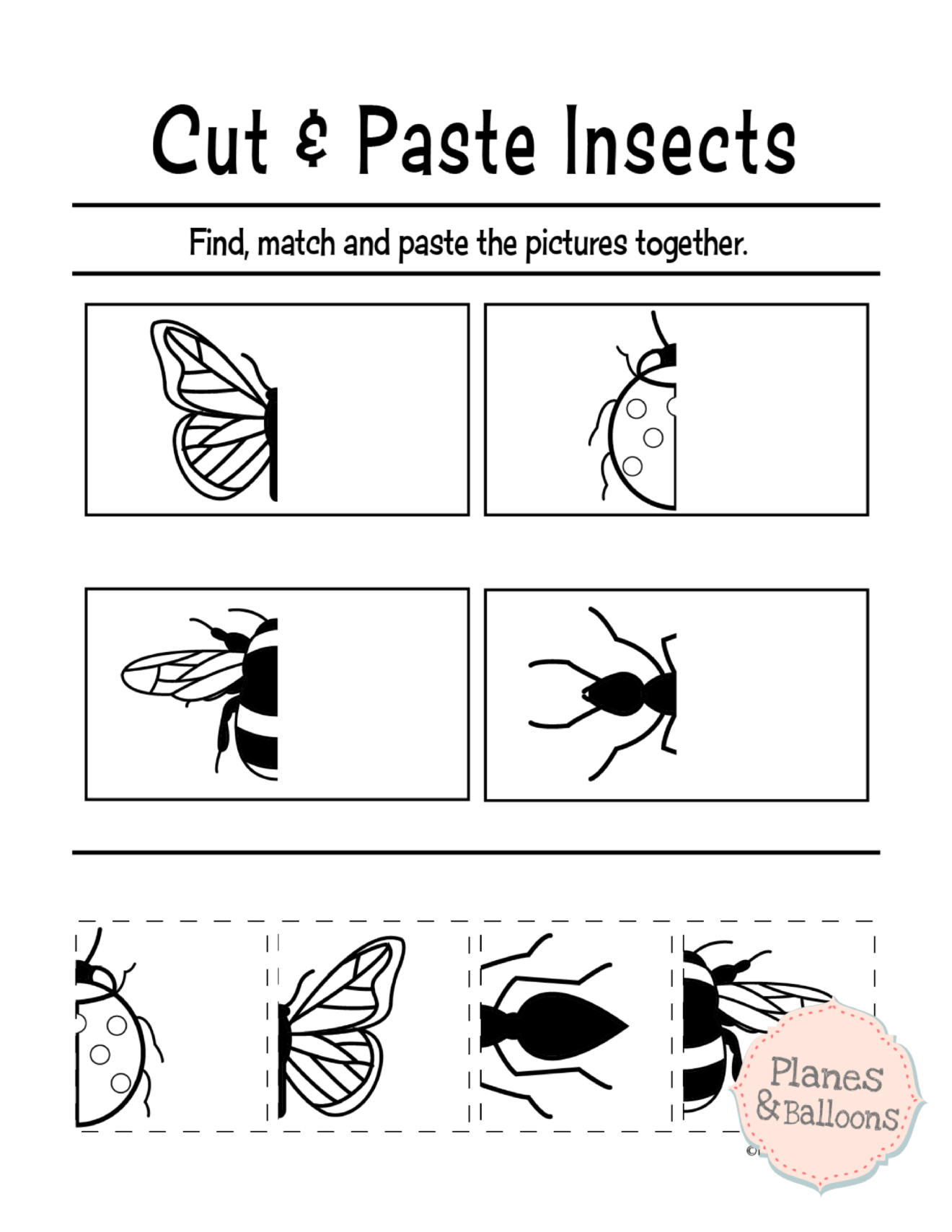 Free Printable Cut And Paste Worksheets For Preschool ...