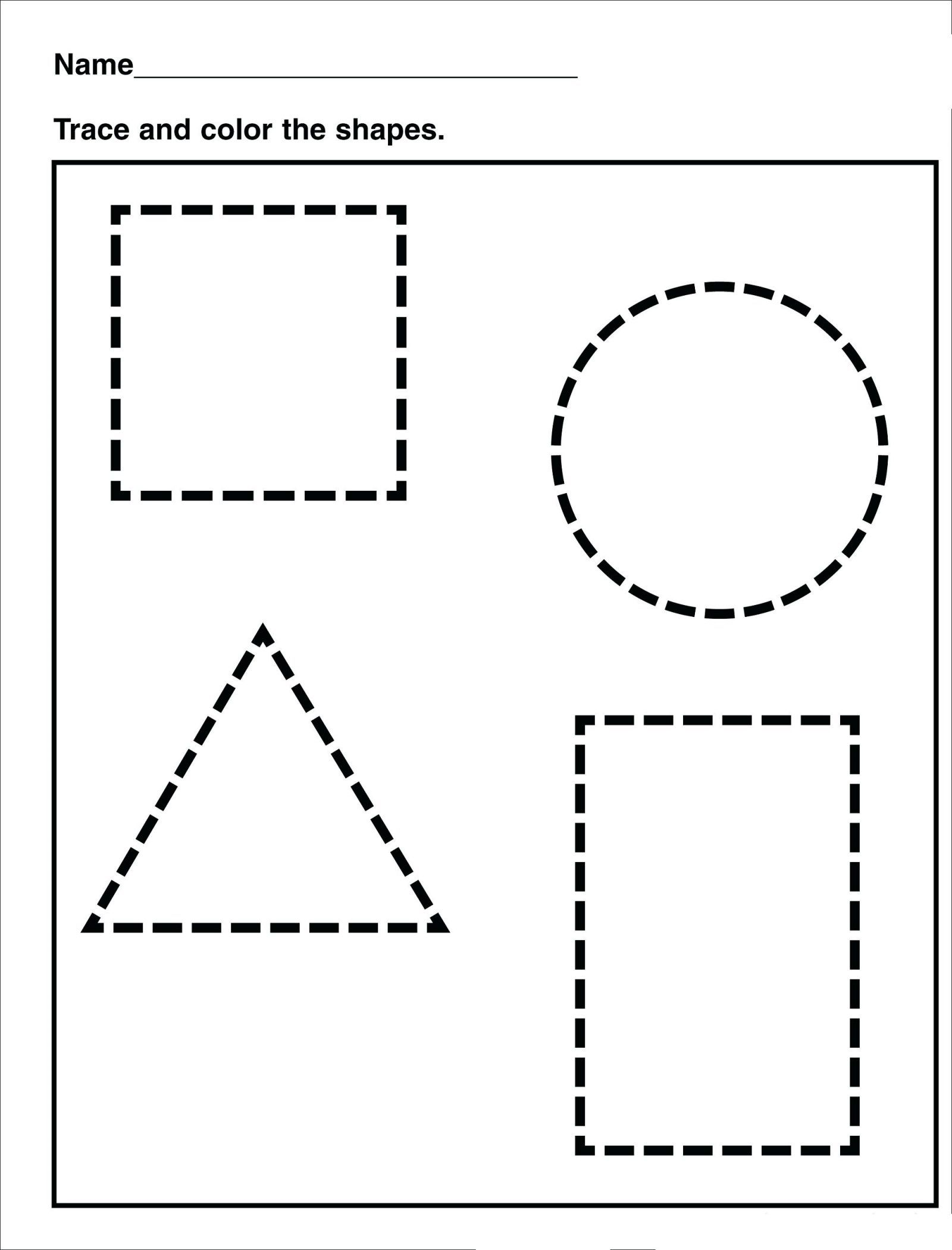- Tracing Shape Tracing Preschool / Free Printable Worksheets On