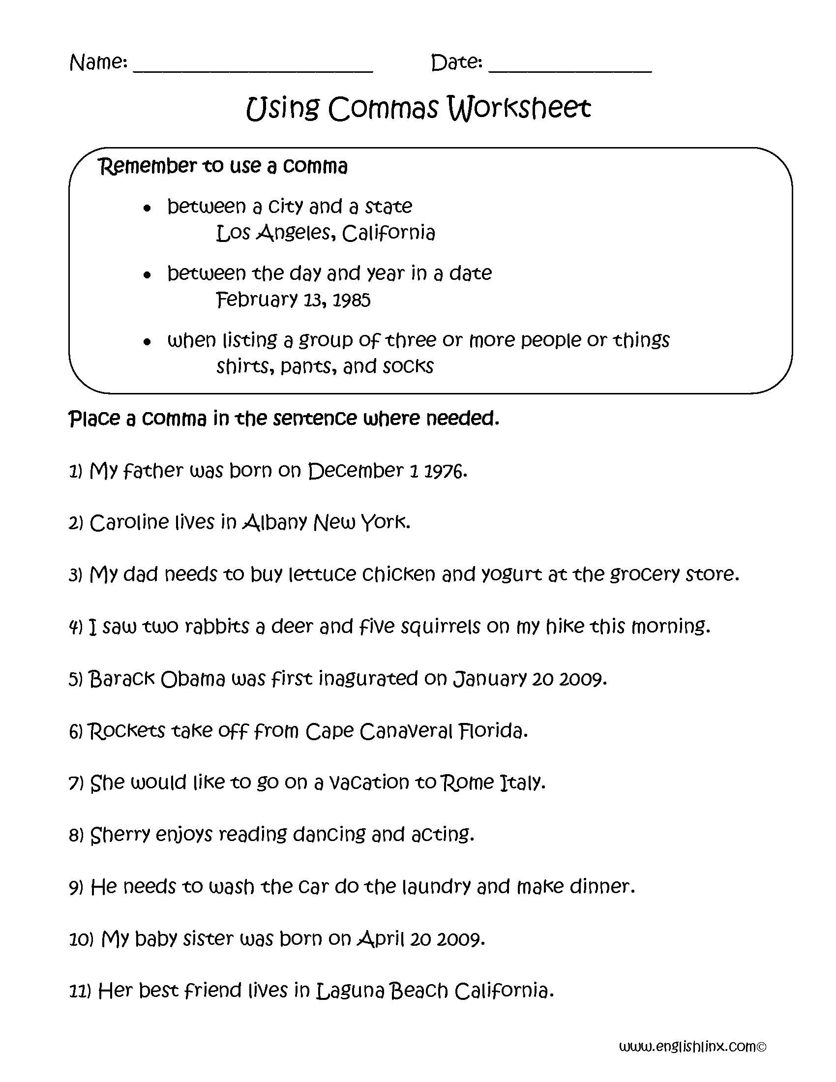 - 16 Best 6th Grade Grammar Worksheets Images On Best Worksheets