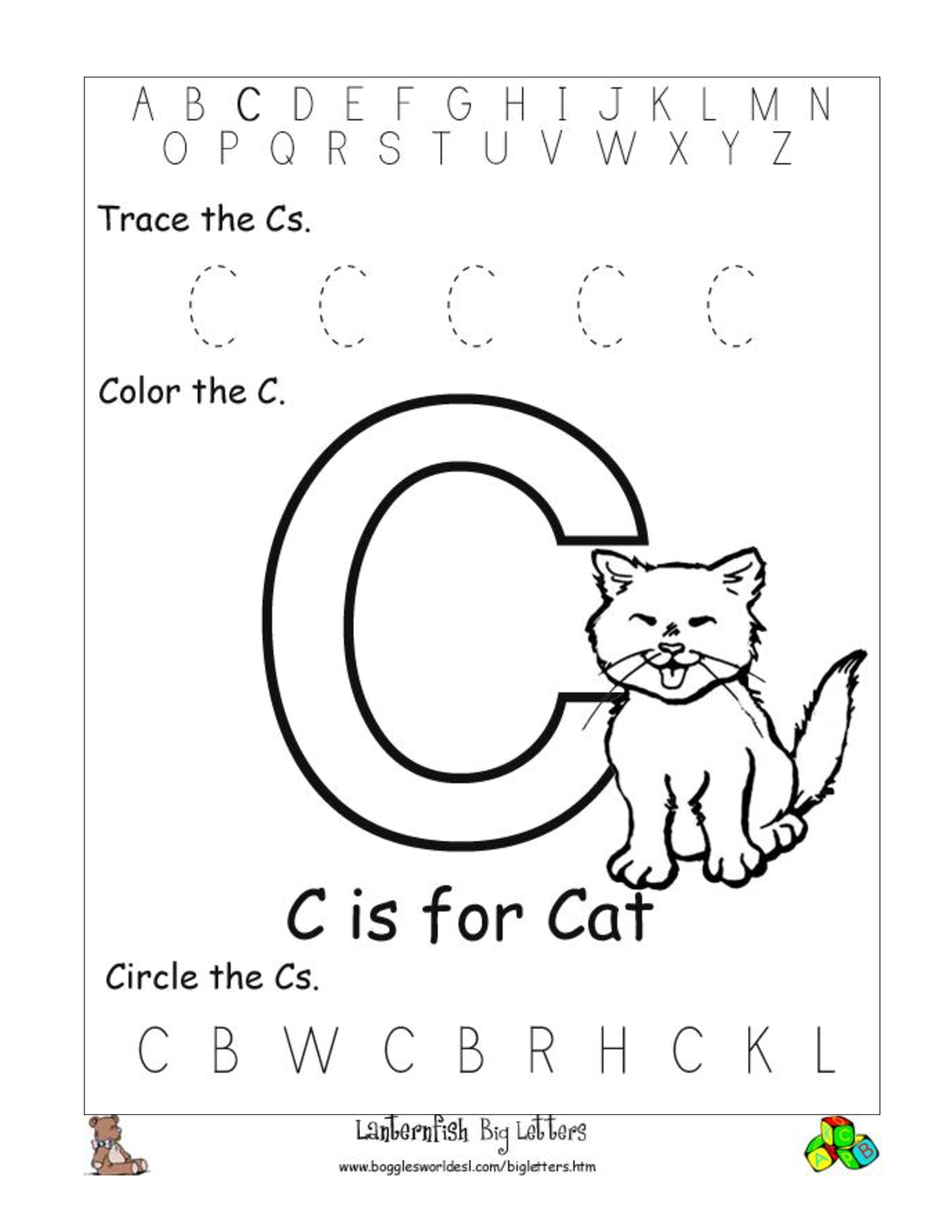 - C Preschool Worksheets Letter C Worksheets Preschool