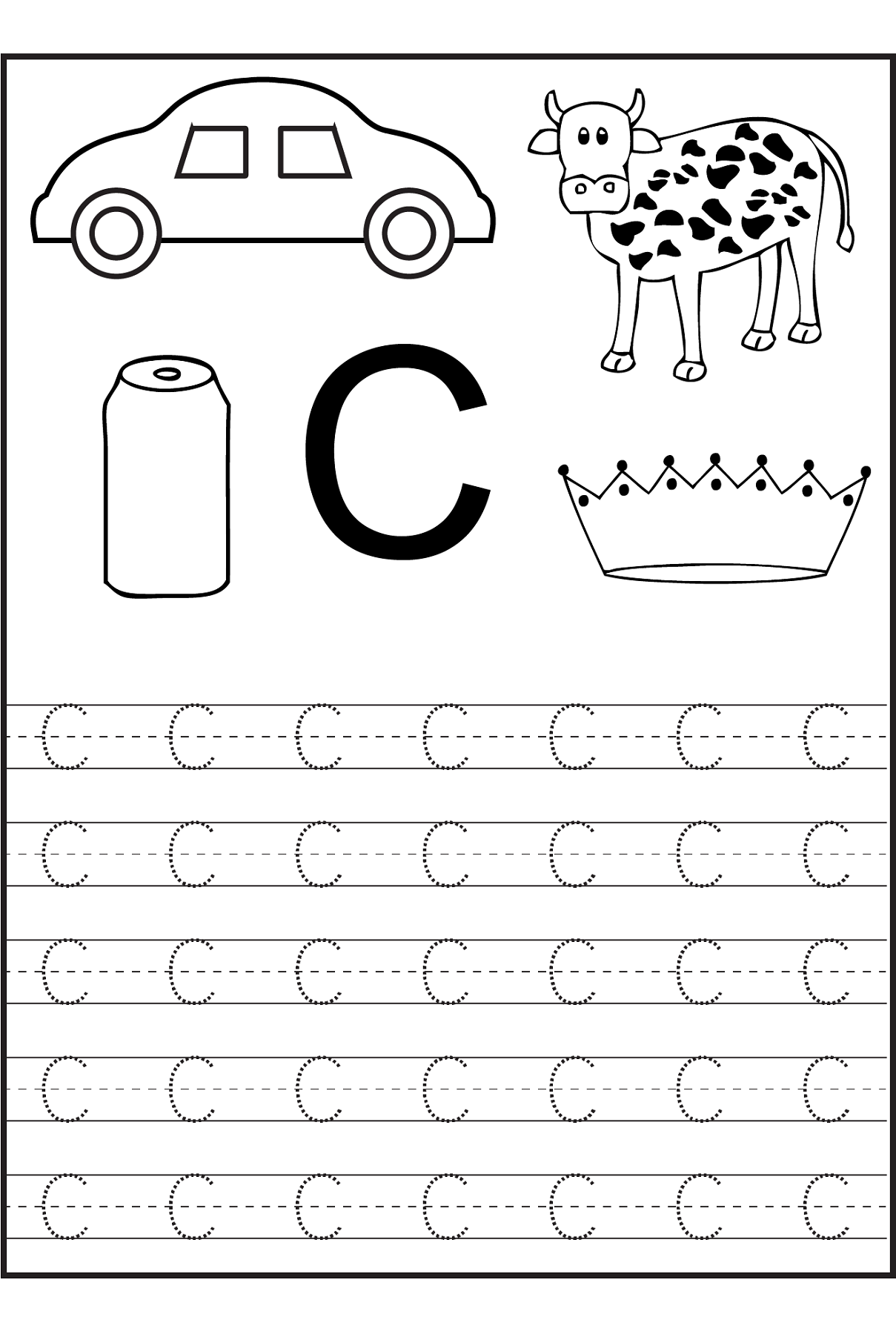 - Letter C Tracing Worksheets For Preschoolers Awesome 82 Best
