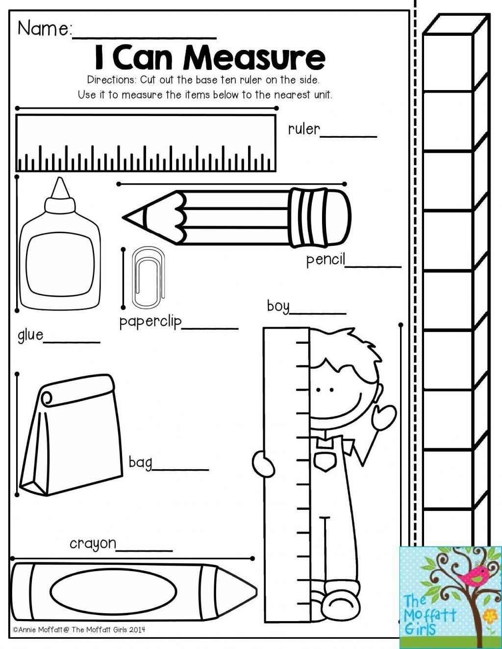 - 1st Grade Measurement Worksheets 1st Grade Measurement
