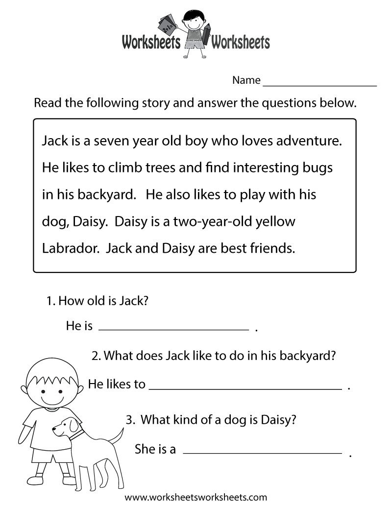 - Reading Comprehension Practice Worksheet Printable Worksheets On