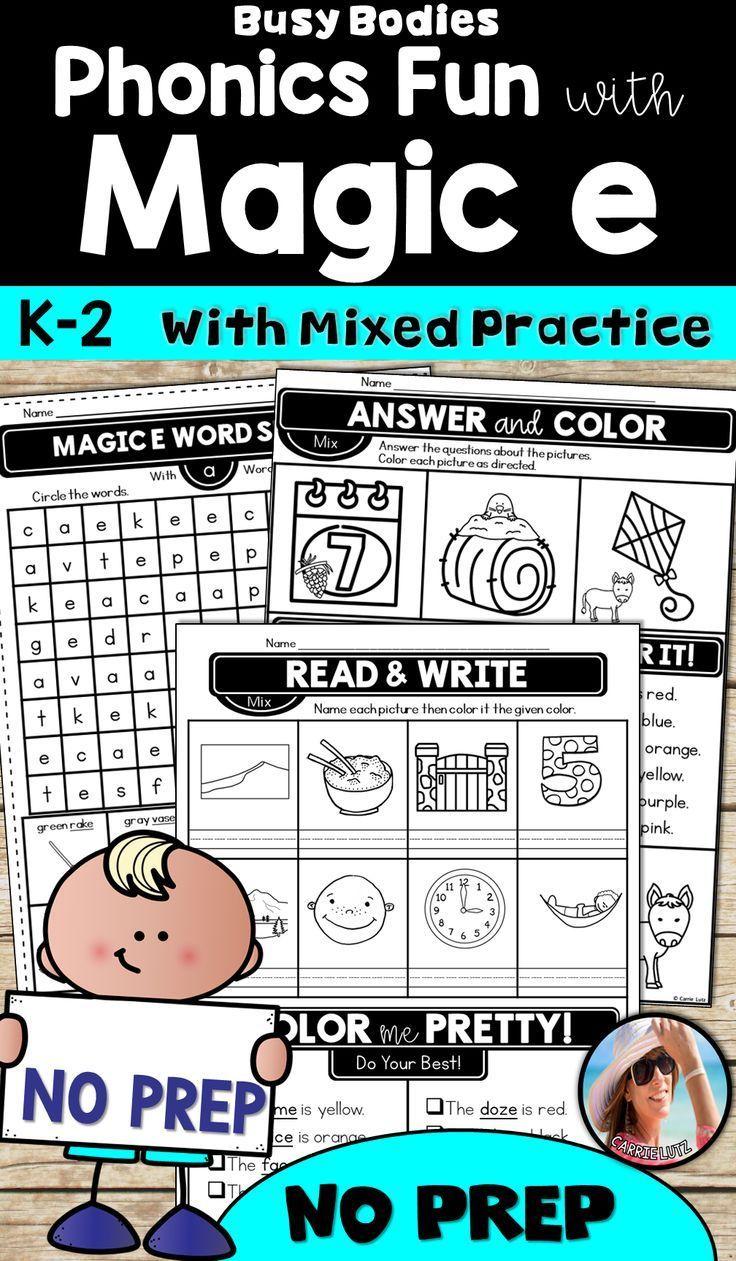 Magic E Worksheets ~ Printable No Prep | Australian Curriculum Grade