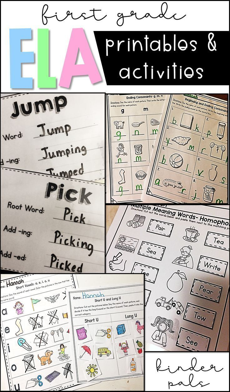 First Grade Literacy Worksheets And Activities Bundle | *** Writing