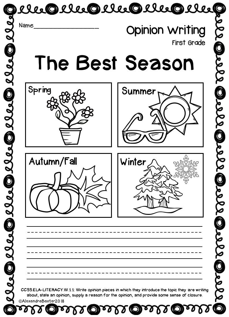 first grade opinion writing prompts worksheets teaching opinion 696x961 - Kindergarten Opinion Writing