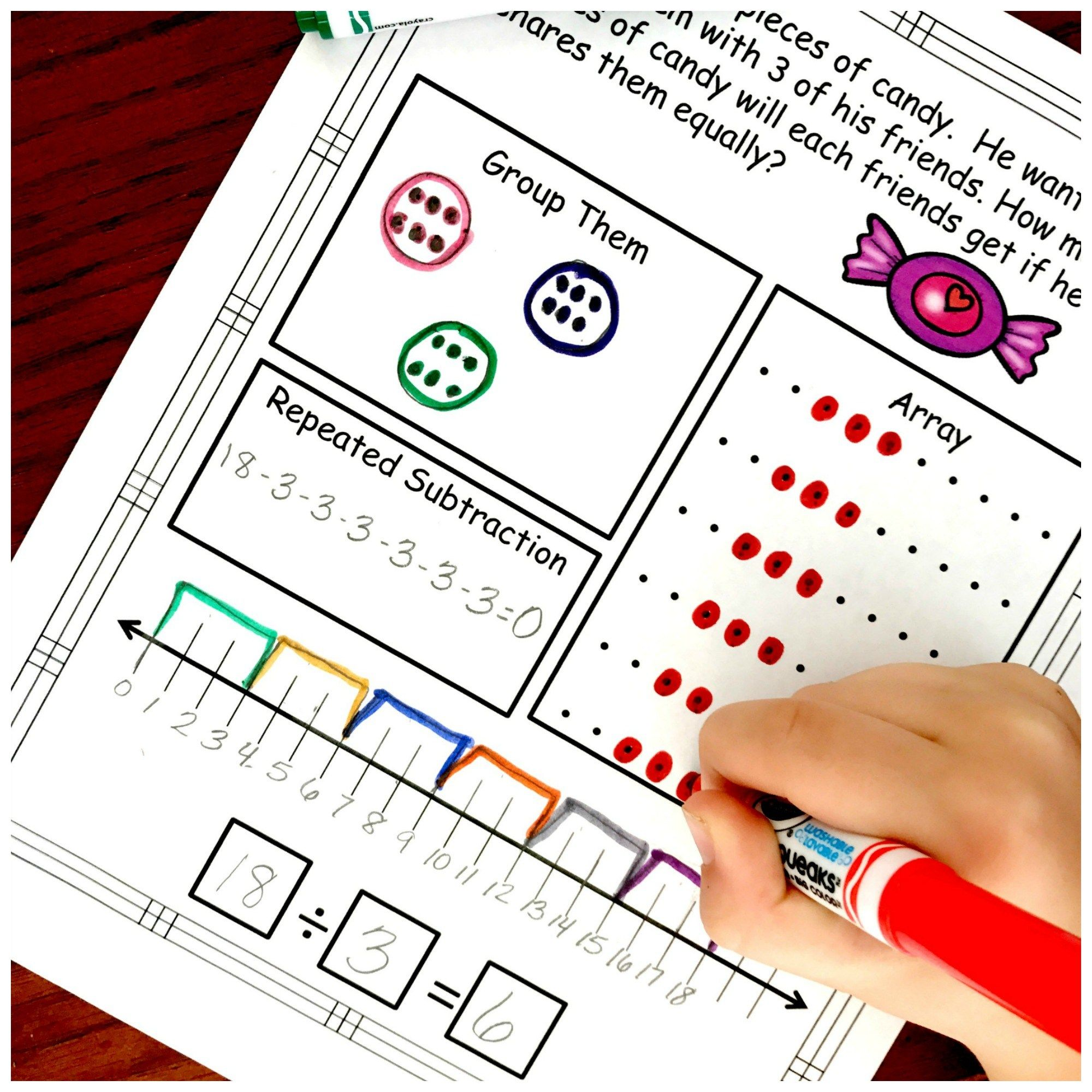 Division Problem Solving With Five Ways To Solvefree Worksheets