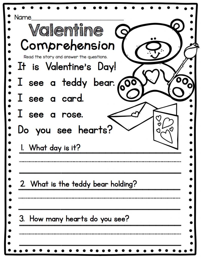 - 5 Best Kindergarten Worksheets Story Comprehension Images On Best