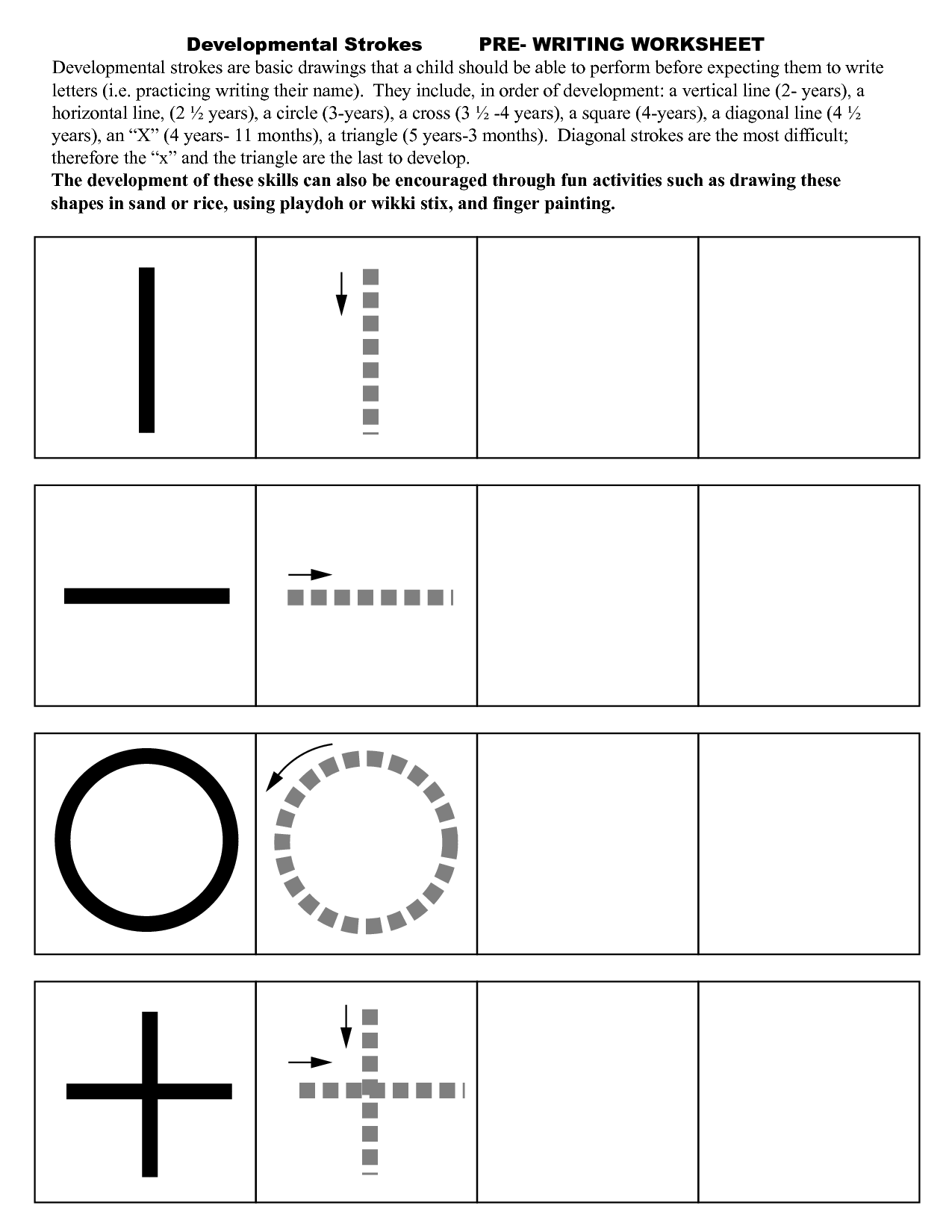 Pre Writing Strokes Worksheets … | If You Can, Teach | Pre W…