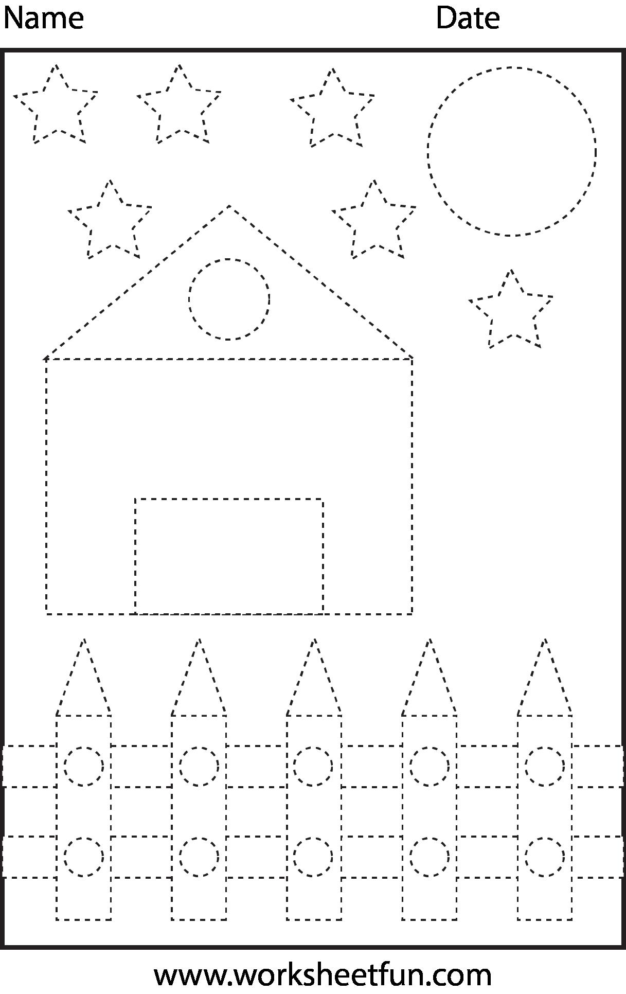 Shape Tracing | Abc2 | Preschool Worksheets, Shapes Worksheets