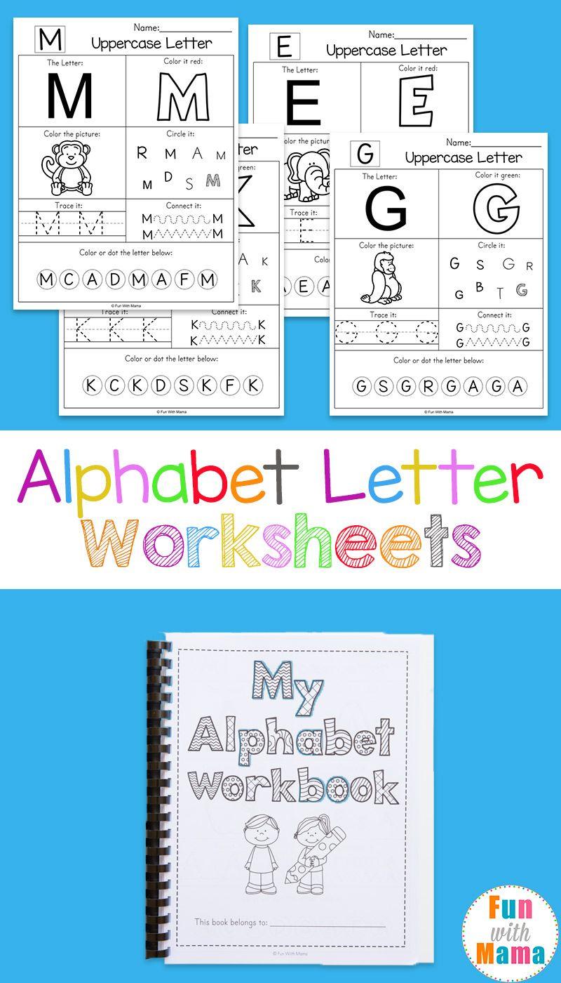 Alphabet Worksheets   Kindergarten   Educacion