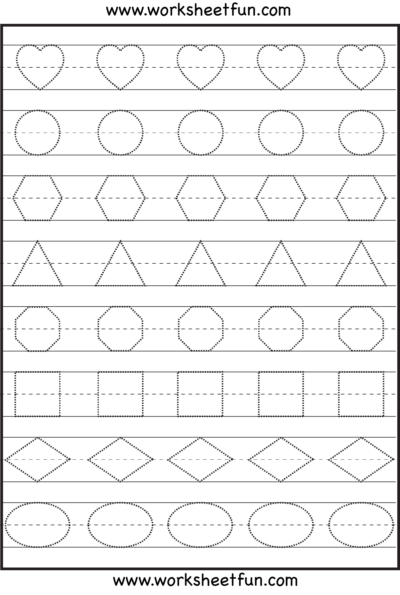 - Shape Tracing And Letters Preschool Worksheets, Shapes On Best