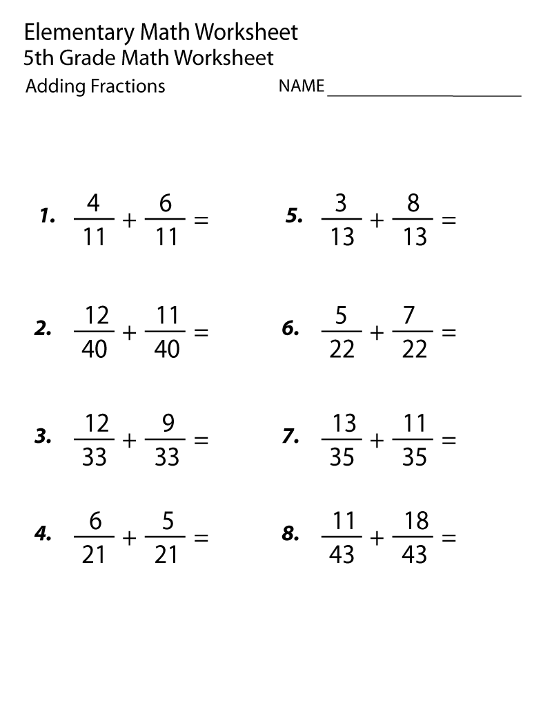 - 20 Best Addition And Subtraction Fraction Worksheets Images On
