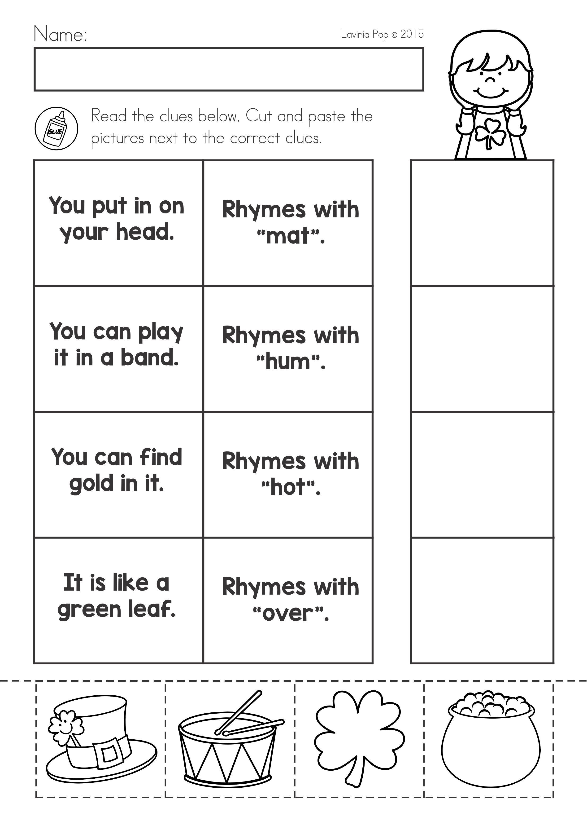 - St Patrick's Day Math & Literacy Worksheets & Activities No Prep