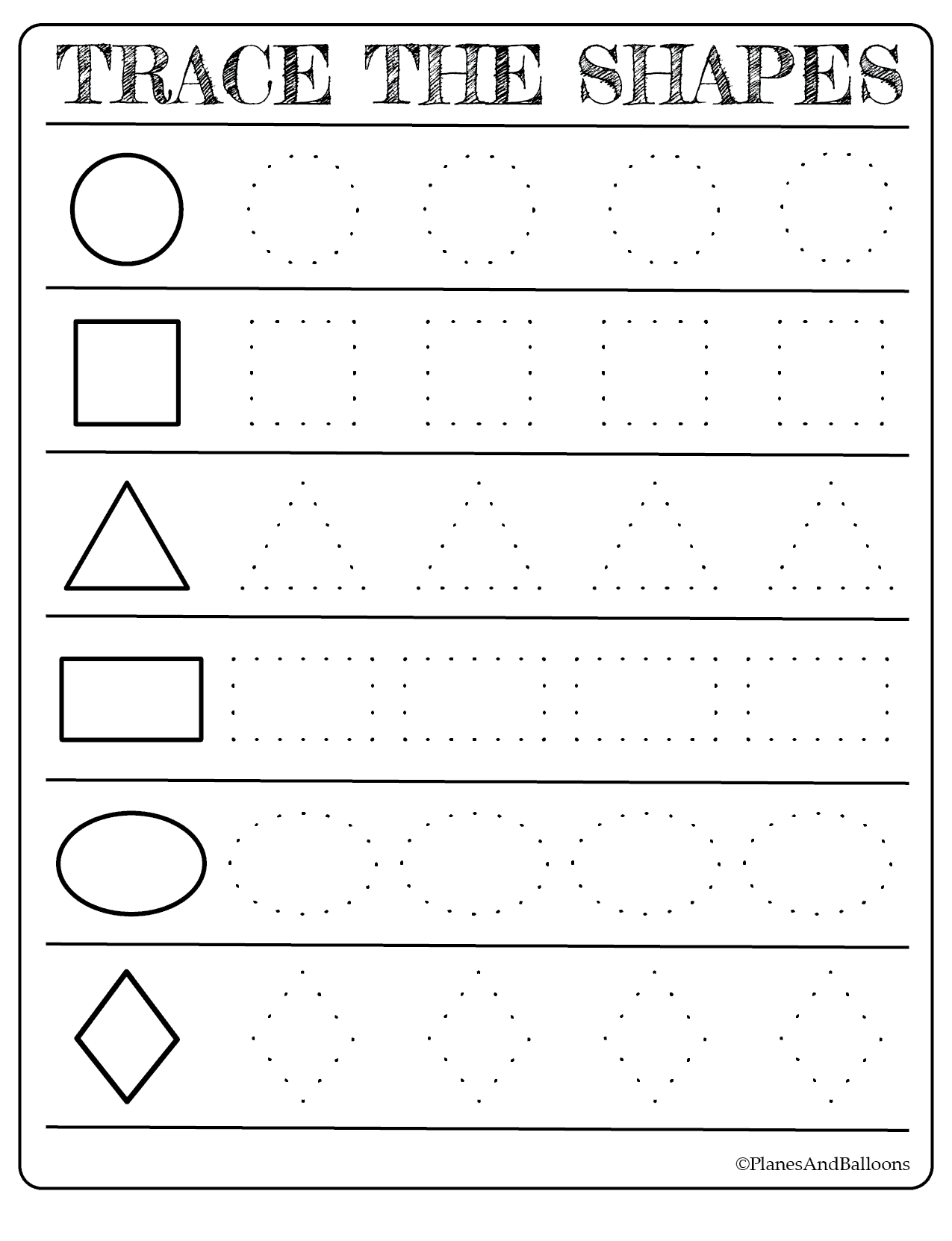 - Free Printable Shapes Worksheets For Toddlers And Preschoolers On