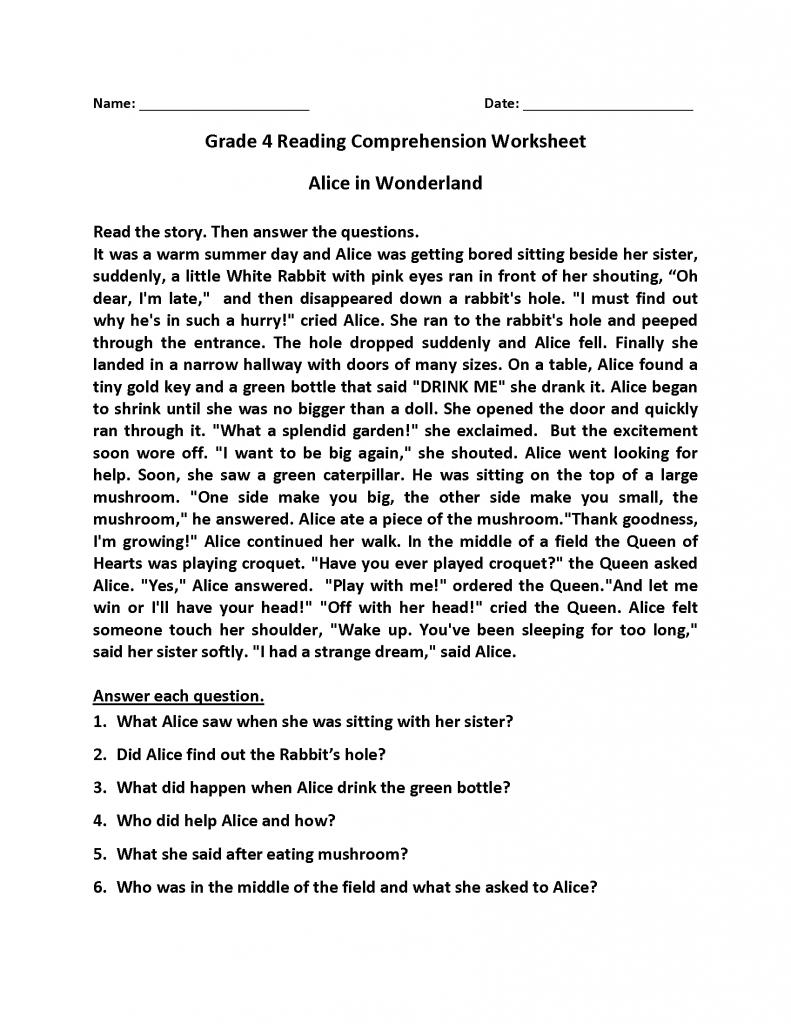 - 9 Best 4th Grade Reading Skills Worksheets Images On Best