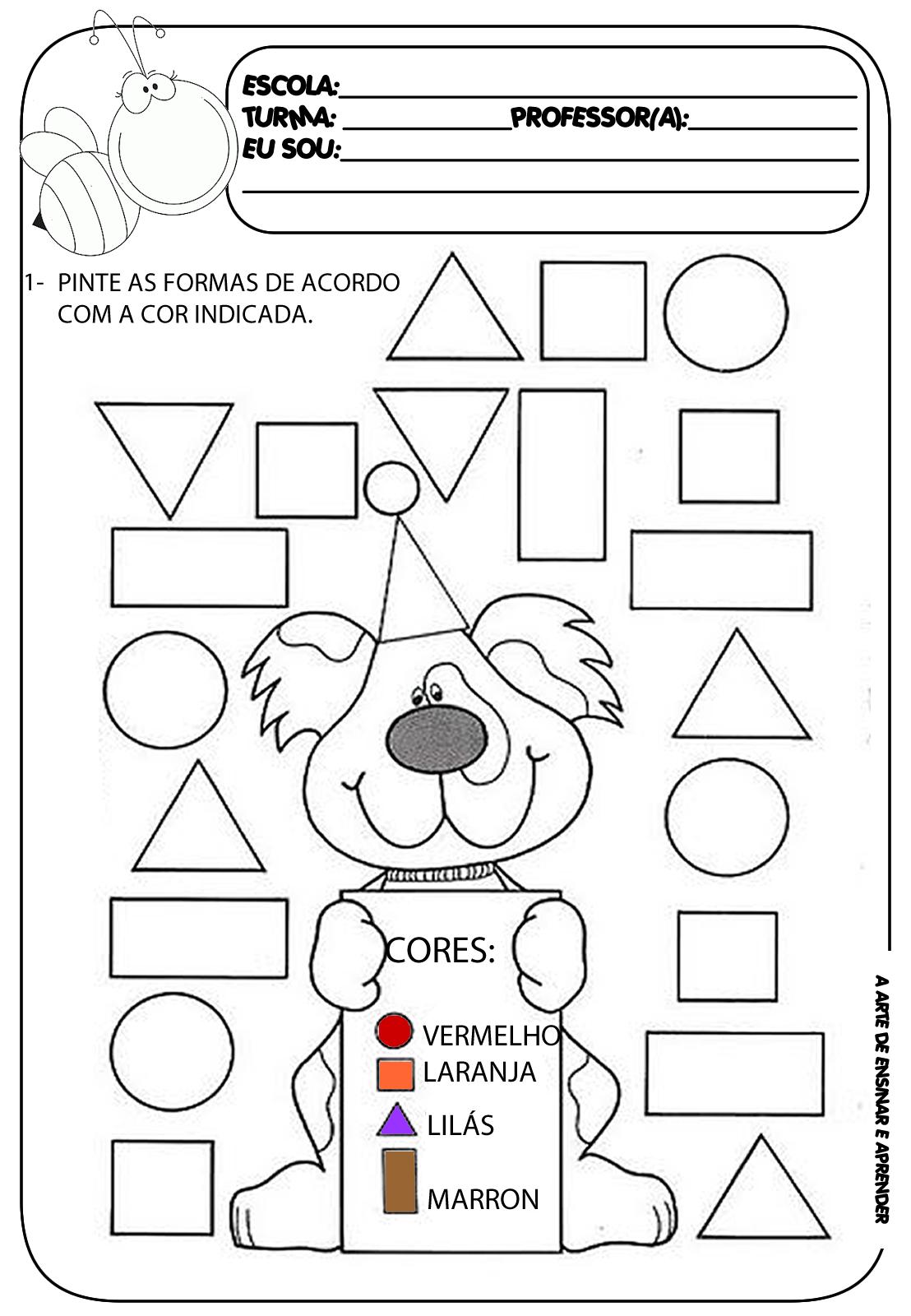Atividade Pronta - Formas Geomã©tricas   Math, School And Worksheets