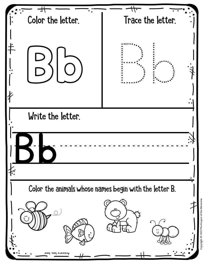 Free Printable Worksheets For Preschool & Kindergarten | Kids Craft