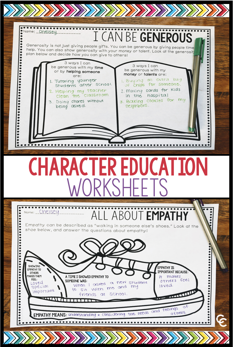 - Character Education Worksheets Social Skills Character On Best