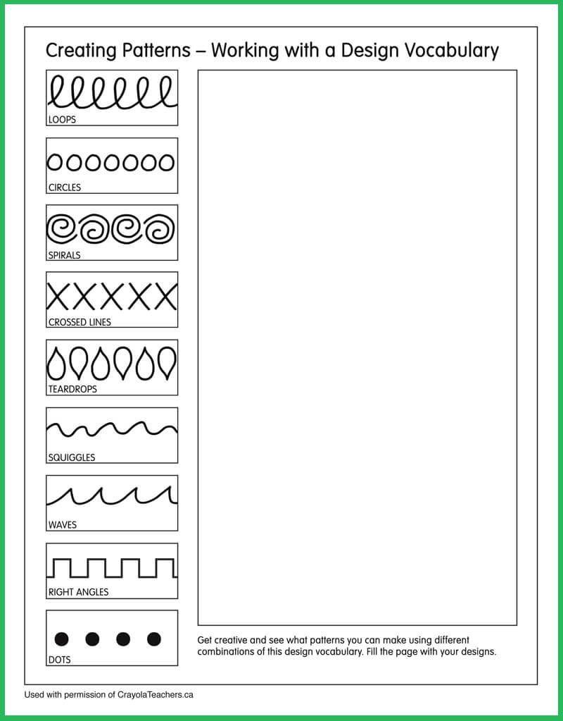 Patterns #artideas | Art Ideas | Art Worksheets, Art Lessons