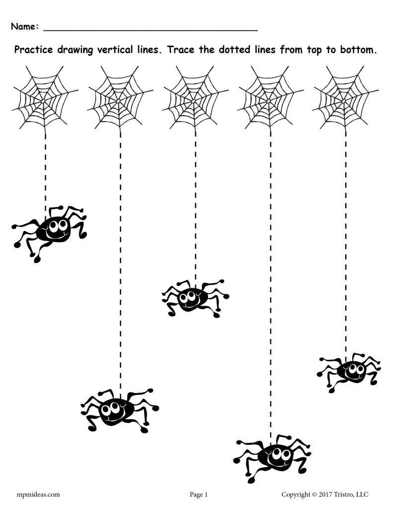 - Free Printable Halloween Line Tracing Worksheets Toddler On Best
