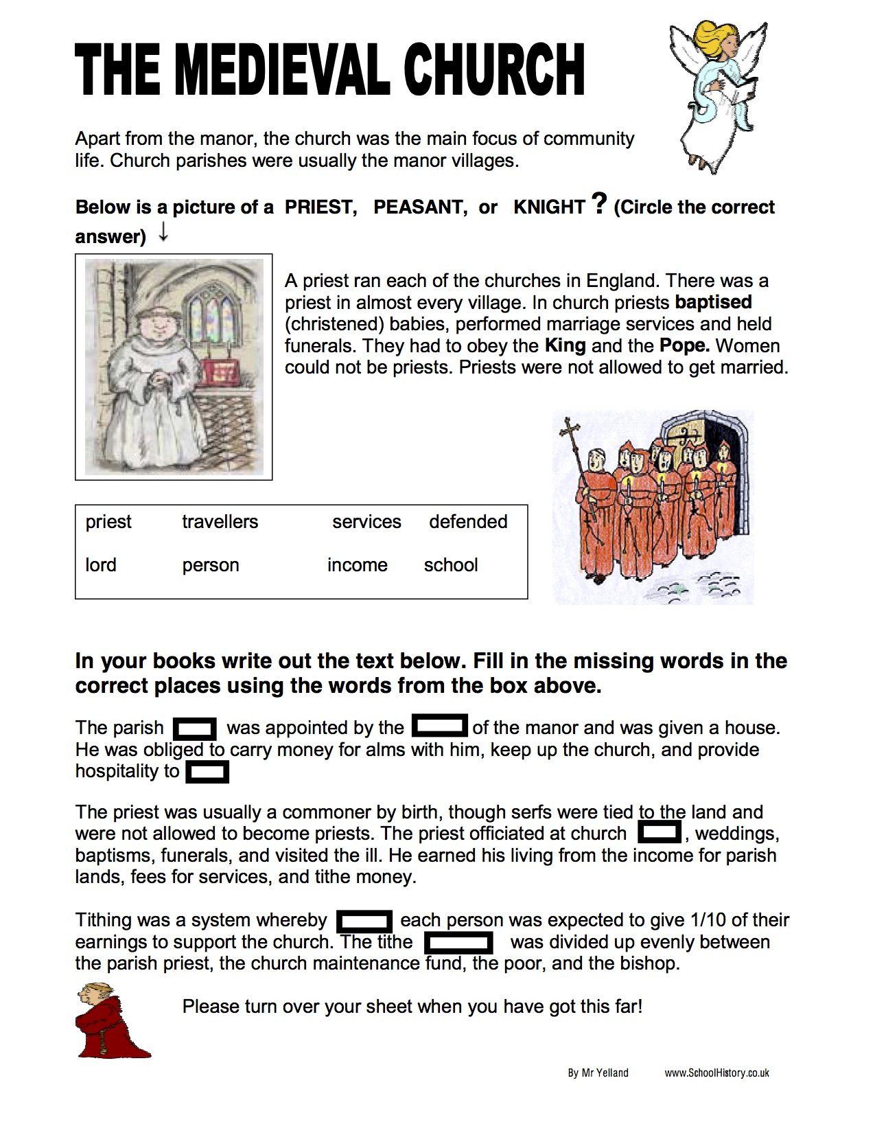 - English Reformation Worksheets Ks3 & Ks4 Lesson Resources On