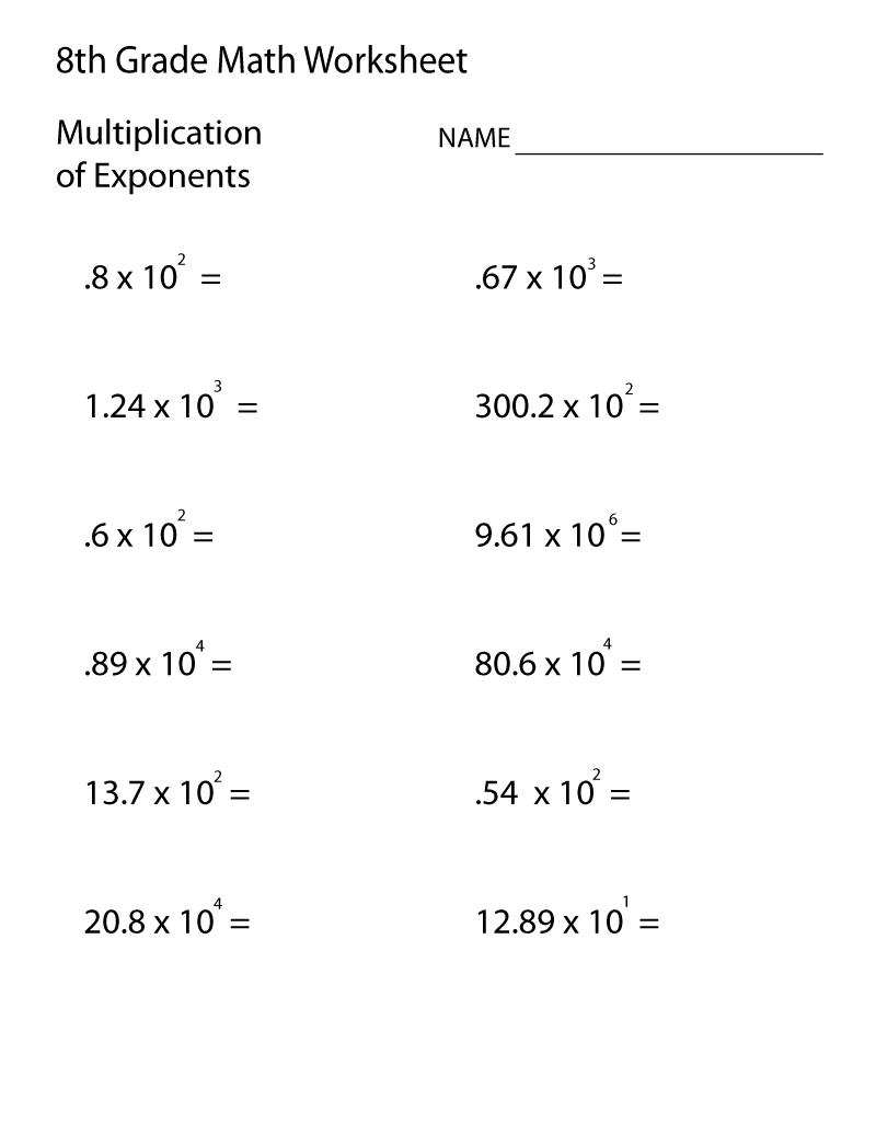 Grade 8 Math Worksheets | 8th Grade Math Worksheets, 8th